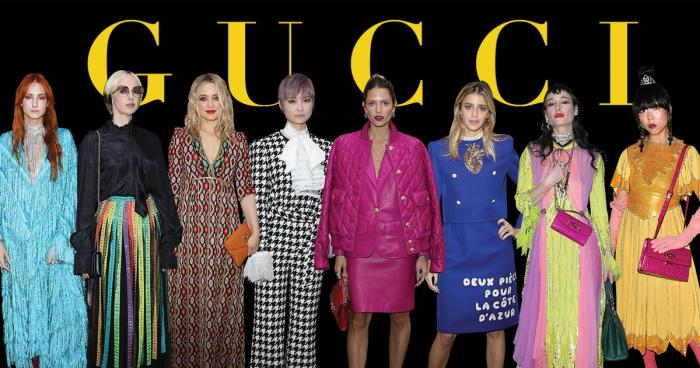 celebrity in cruise collection 2020 by gucci