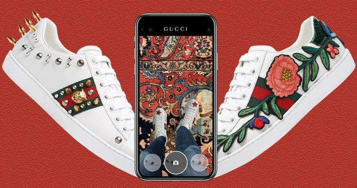 gucci ace sneaker on application