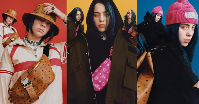 Billie eilish in campaign with mcm