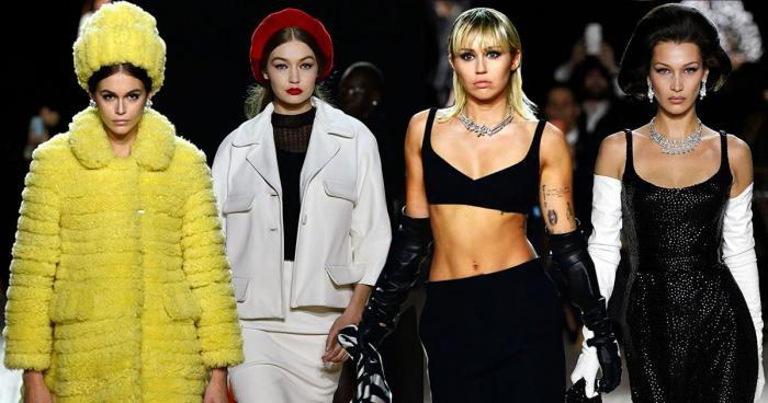 Miley Cyrus,Bella Hadid,Gigi Hadid,Kaia Gerber,Fashion,Marc Jacobs Fall/Winter 2020 NYFW