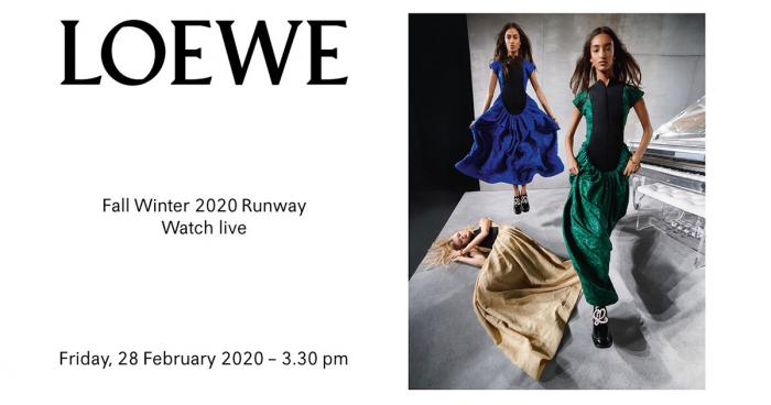 Loewe ไลฟ์สดจาก Paris Fashion Week Fall/Winter 2020
