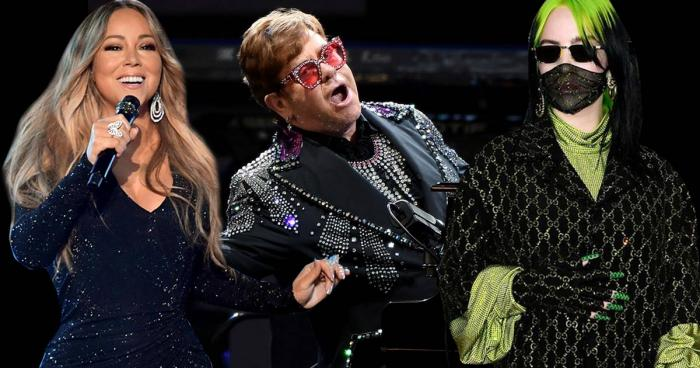 Elton John,Mariah Carey,Billie Eilish Fox Presents the iHeart Living Room Concert for America