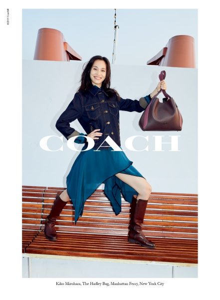 Kiko Mizuhara for coach fall 2019 campaign