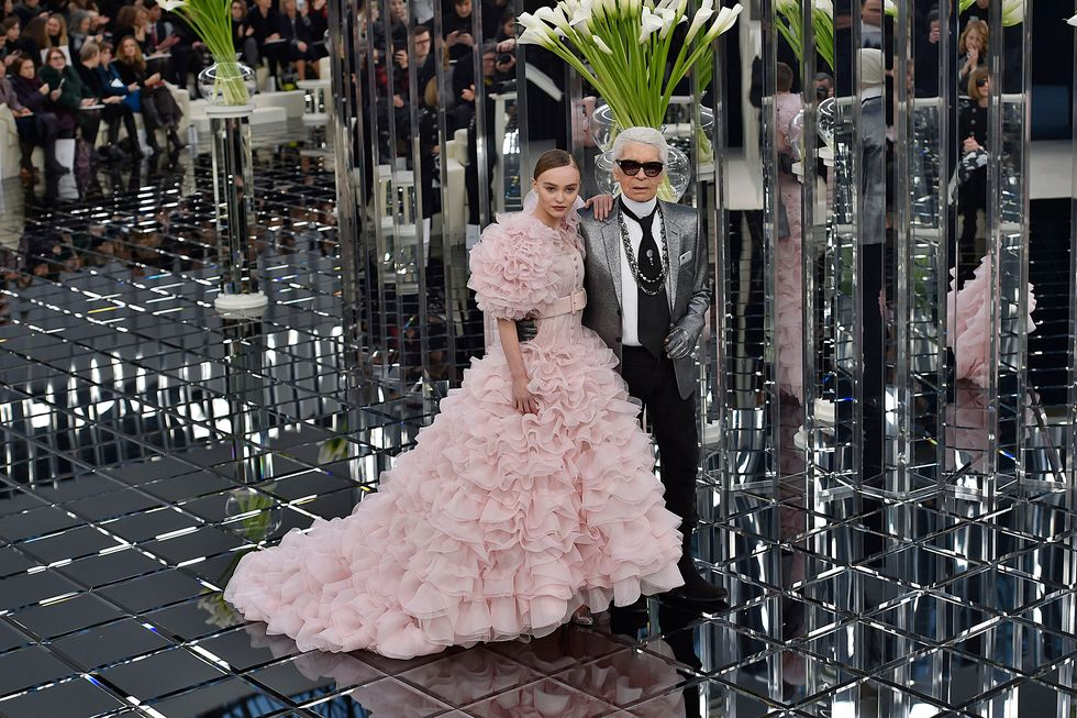 2017Lily-Rose Depp was given the illustrious task of closing the Chanel couture show in 2017