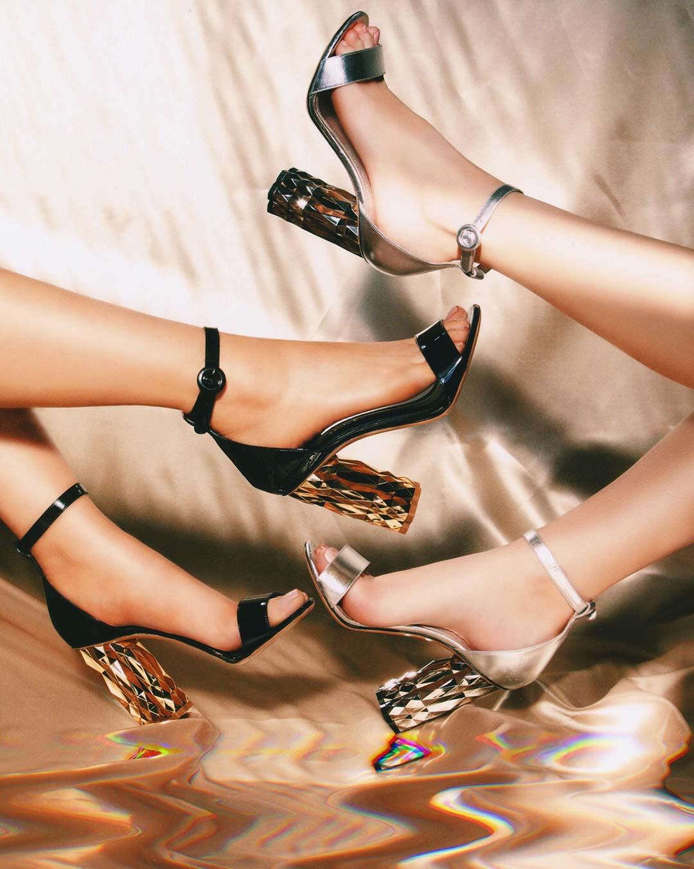 Refracted Heel รองเท้าส้นสูง Salvatore Ferragamo