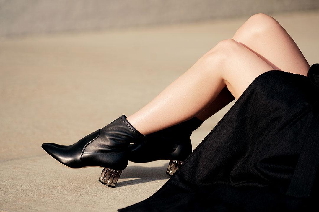 Refracted Heel Bootie รองเท้าส้นสูง Salvatore Ferragamo