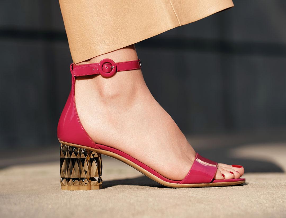 รองเท้าส้นสูง Salvatore Ferragamo Refracted Heel Sandal