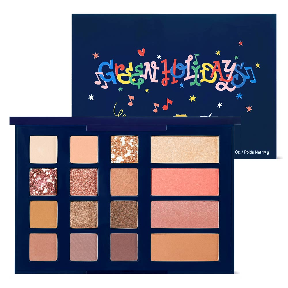 เฟซพาเลตต์ Innisfree Mood Up Party Palette Green Holiday