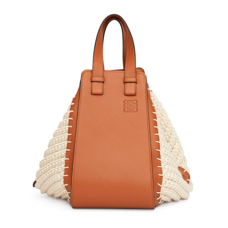 Loewe Hammock knitted-panels leather bag