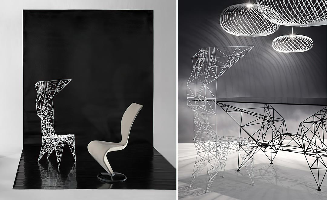 "Pylon Chair & Iconic ""S Chair"""